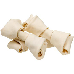 Natural rawhide bones for dogs